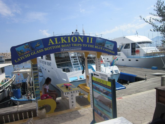 Alkion II, glass bottom boat